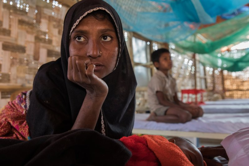 An image preview for 'We only survived by eating the leaves of the trees': One Rohingya woman's harrowing journey to flee violence in Myanmar article.