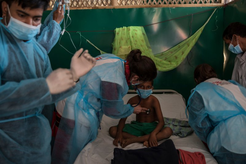 An image preview for 'We should not be seeing diphtheria': An MSF doctor on the outbreak affecting Rohingya refugees in Myanmar article.
